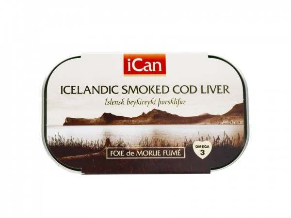 Tin of smoked cod liver