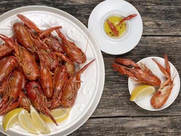 A big bowl of cook crayfish