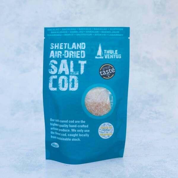 Salt cod in a sachet