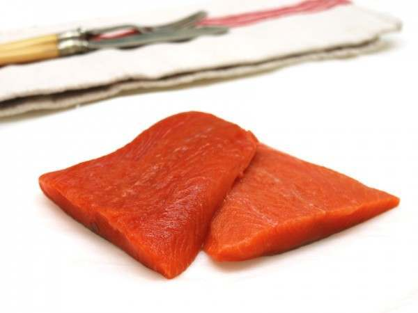 Wild sockeye salmon fillet portions