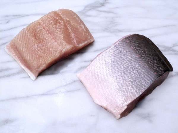 Two fillet steaks fo arctic char