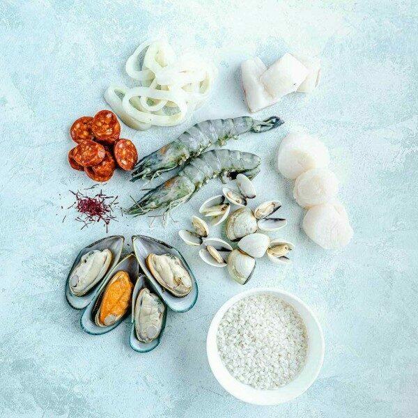 Paella kit ingredients