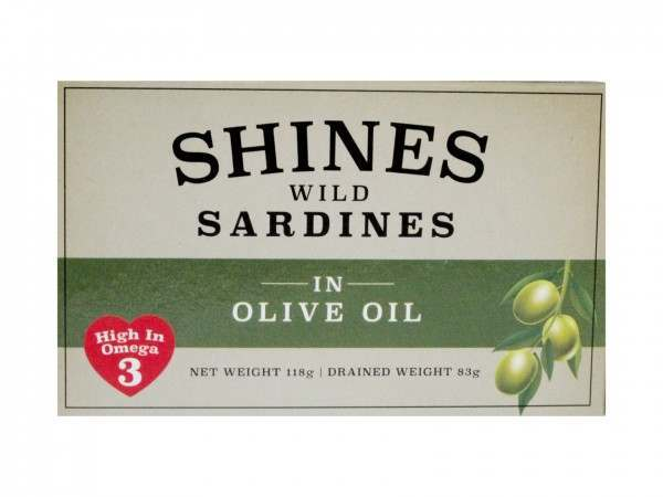 SHINES TINNED SARDINES IN OLIVE OIL