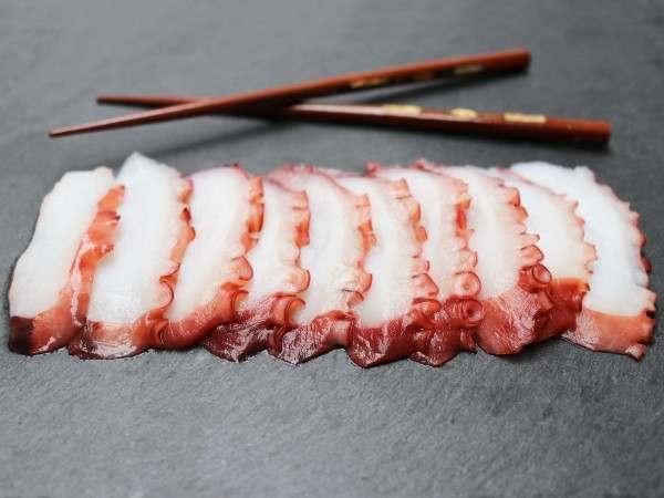 Tako - sliced octopus sashimi