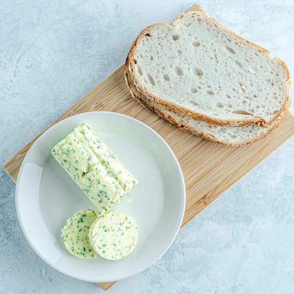 Confit garlic & herb butter