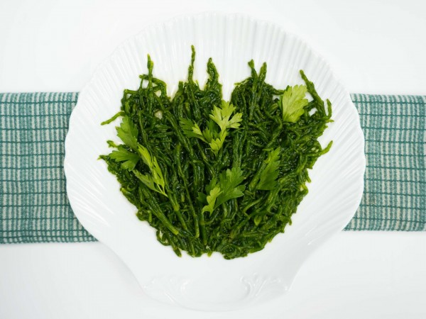 Defrosted Samphire in a bowl