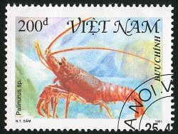 rock lobster stamp from Viet Nam
