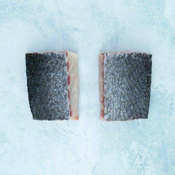 Stone bass loin steaks