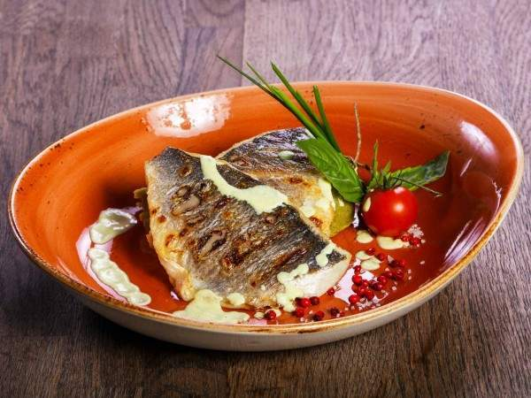 Grilled gilt-head sea bream fillets