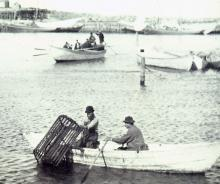 Old picture of lobster fishermen