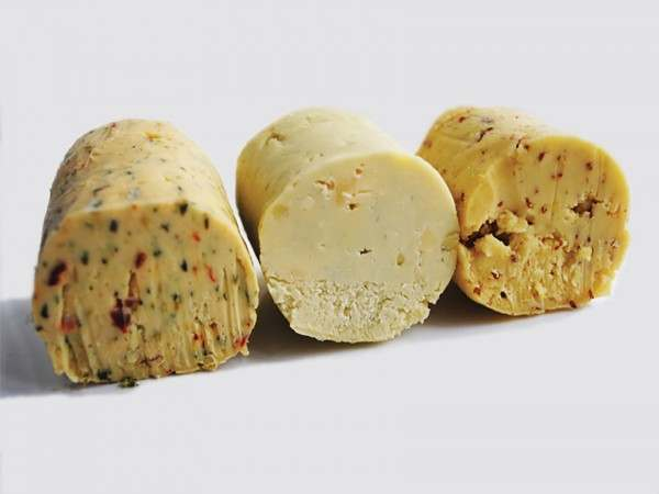 Three different flavours of butters