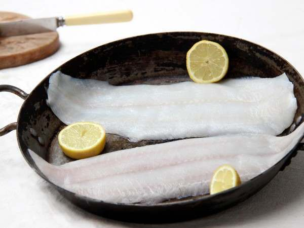 Raw dover sole fillets