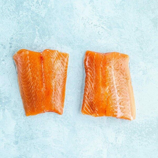 Chalk stream trout fillet portions