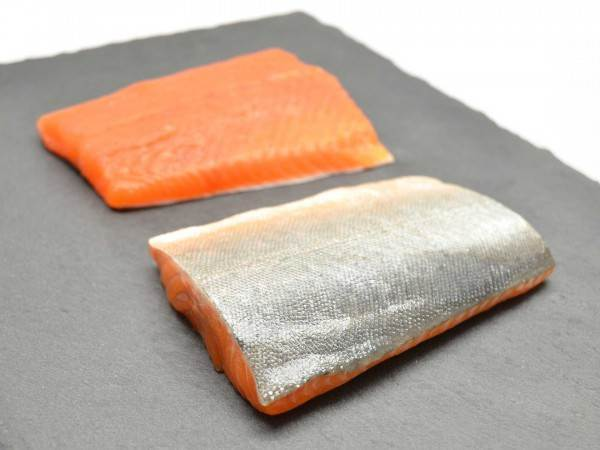 Two arctic char fillet steaks