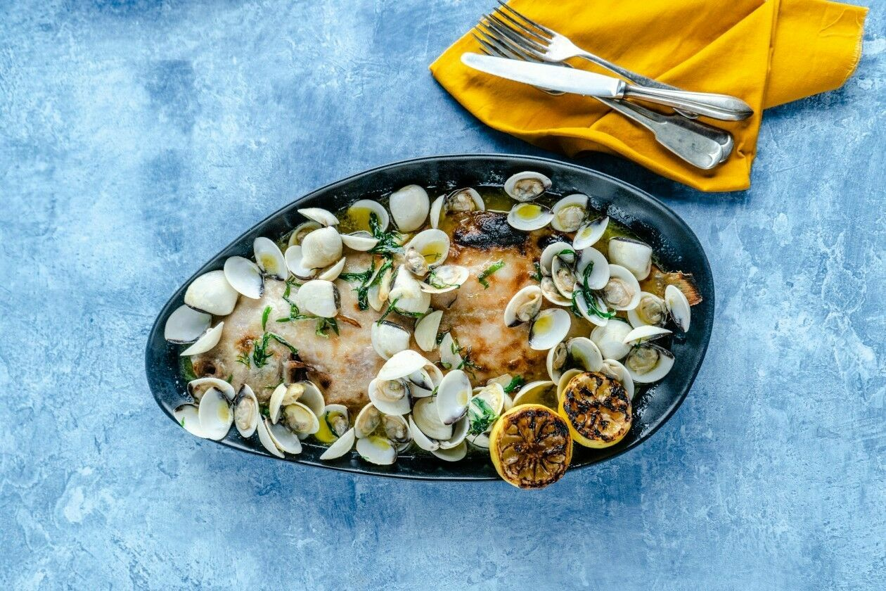 Dover Sole with Clams