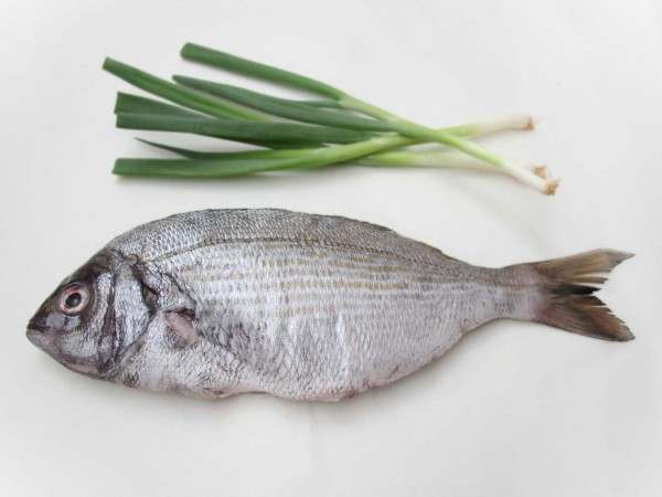 A whole black bream