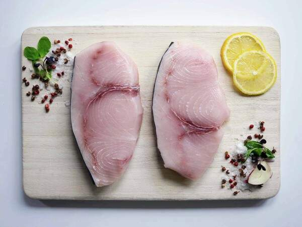 Hand cut swordfish steaks