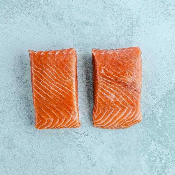 ventresca fillet steaks of wild king salmon
