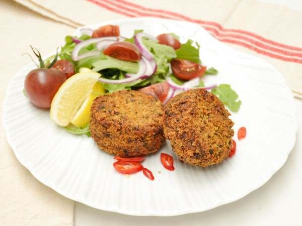 Two indian spiced fishcakes
