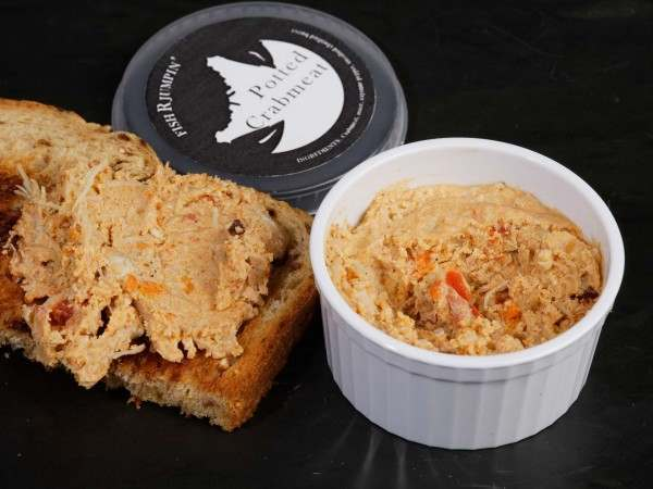 Potted crab on toast