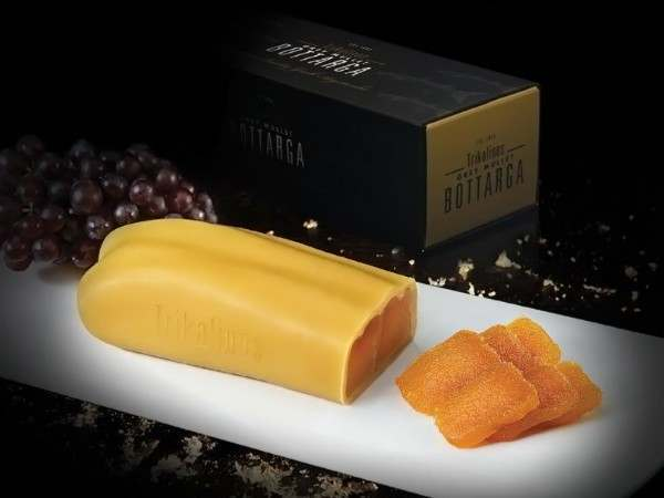 Greek bottarga and presentation box