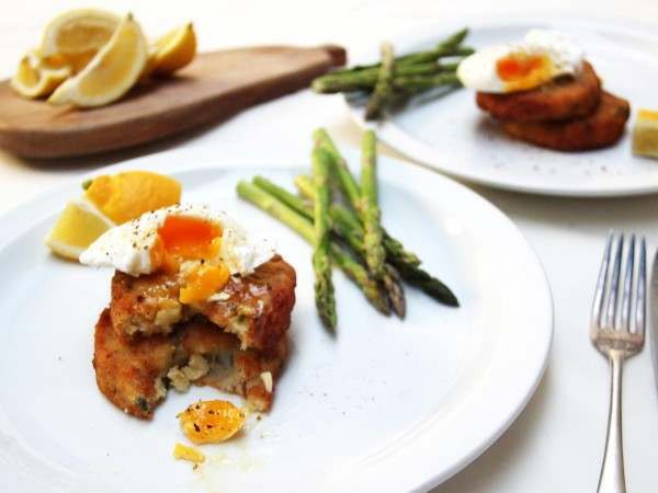 Smoked haddock & spring onion fishcakes