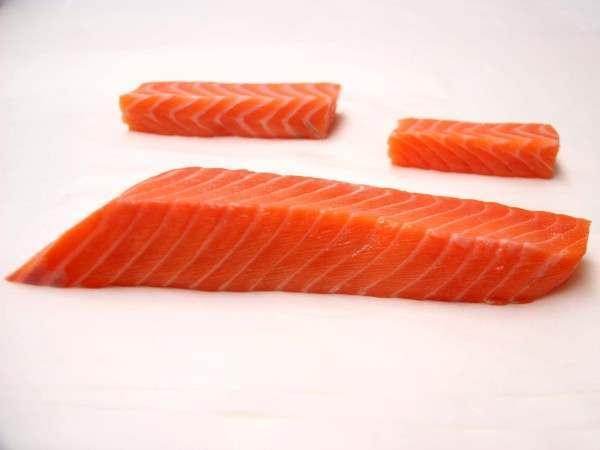 Sake - organic salmon back sashimi