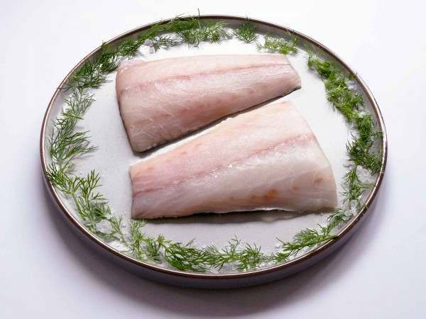 Sea bass fillet portions