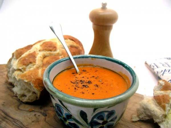 Lobster bisque - soup from a tin