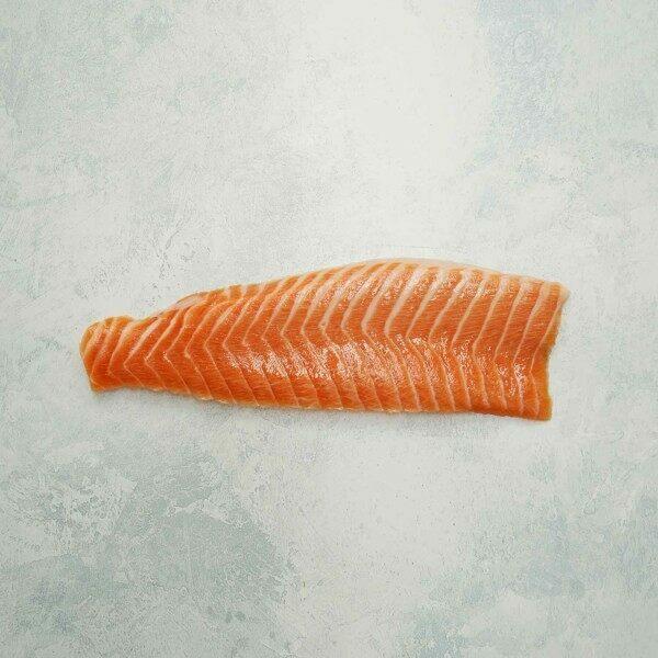 Chalkstream Rainbow trout belly sashimi