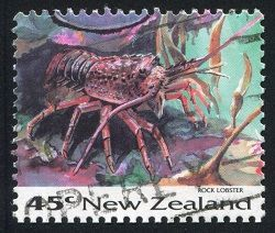rock lobster stamp from New Zealand