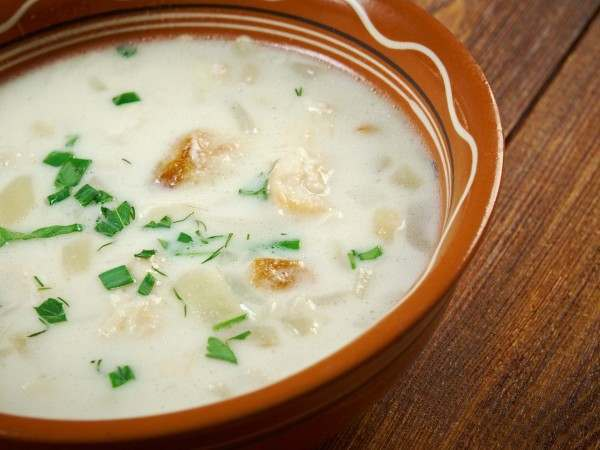 A bowl of cullen skink soup